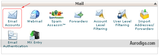 Go to Email Accounts on cPanel