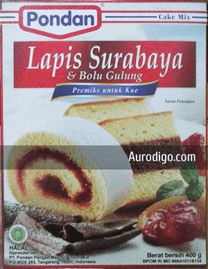 Pondan Lapis Surabaya & Bolu Gulung - Premiks untuk Kue